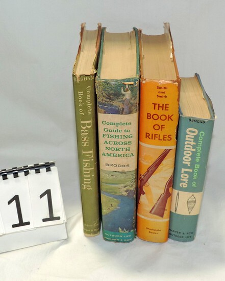 Vintage Fishing & Riffle Books