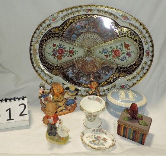 Vintage Collectible China And Metal Lot