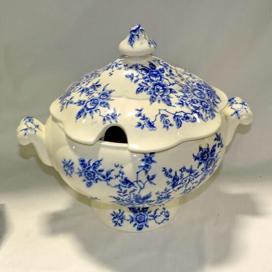 Blue & White Transferware Electric Soup Tureen