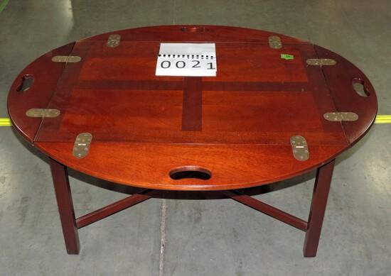 Mahogany Tray Coffee Table