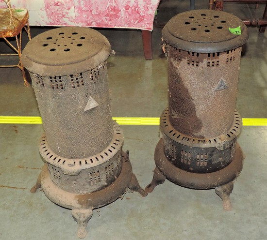 Pair Of Matching Antique Metal Heaters