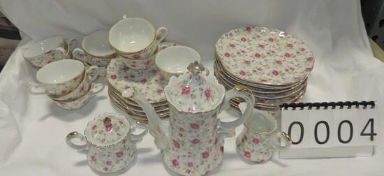 Vintage Rose Pattern China Set
