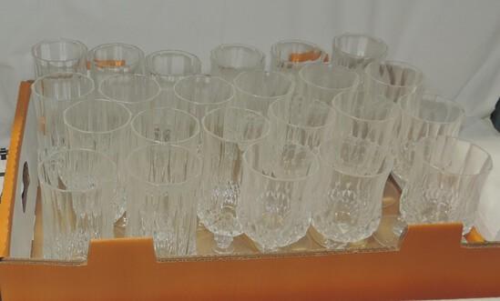 24 Piece Heavy Crystal Stemware Set