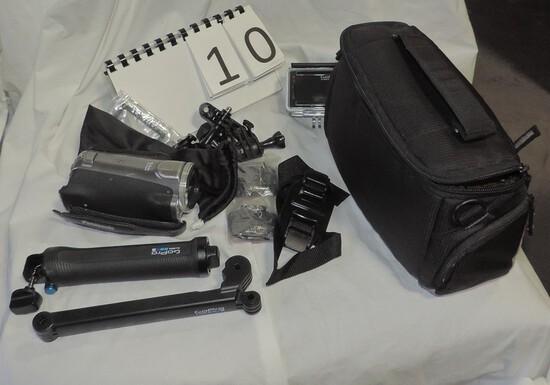 Panasonic Hdc-sd9 3ccd Advanced Video Camera And Hero Gopro 4 Camera
