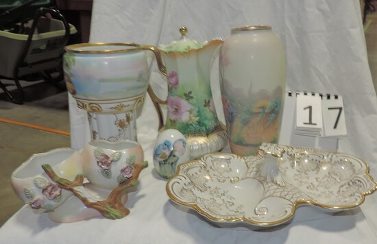 Rs Prussia Chocolate Pot Plus 5 Other Quality Pcs.