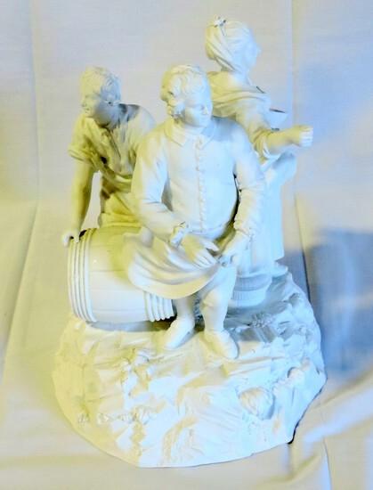 3 Figure Parian Ware Statue