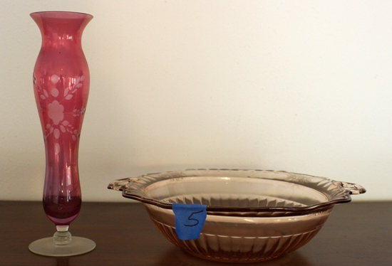 (2) Pieces of Depression Glass