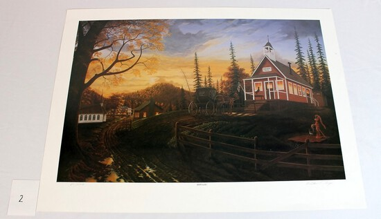"William Perry ""Kept Late"" Print"