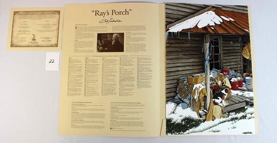"Bob Timberlake 2016 ""Ray's Porch"" Giclee"