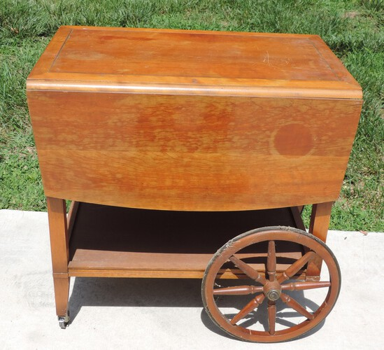 Vintage Maple Tea Cart