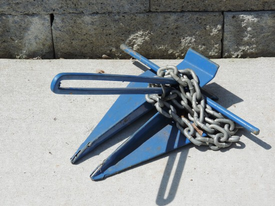Boat Anchor with Chain