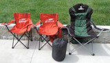 Lot of (3) Camping Chairs Sleeping Bag