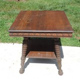 Extra Nice Victorian Oak Bible Table