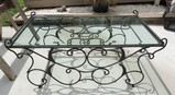 Iron and Glass Top Coffee Table