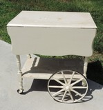 1940's Painted White Tea Cart