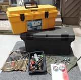(2) Contractor Tool Boxes and Misc. Tools