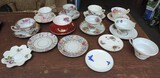 (8) Antique Cups and Saucers and More