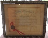Original Postmaster General Certificate From President Grover Cleveland