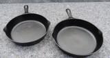 (2) Antique Cast Iron Frying Pans (1 is Griswold)