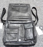 Wilson's Leather Black Leather Pocketbook