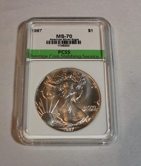 1987 Graded MS-70 Silver Eagle