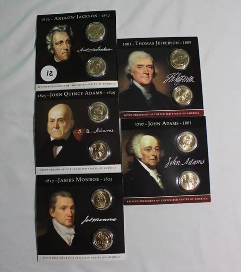 (5) Pennsylvania and Denver Presidential Sets