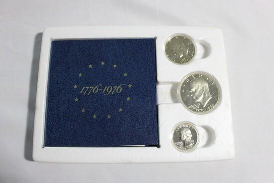 1976 3 Piece Silver Proof Set