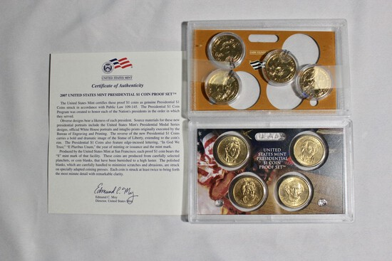 (2) Proof Presidential Coin Sets