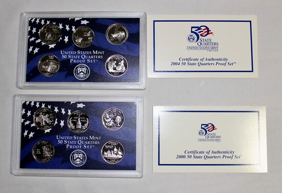 (2) Proof Presidential Quarter Coin Sets