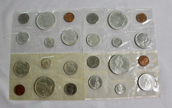 (4) Canadian Silver Proof Sets