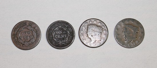 (4) Large Cents