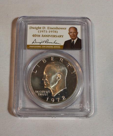 1972 Graded PF-69 Eisenhower Dollar