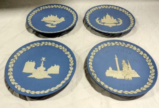 Set Of 4 Wedgewood Christmas Plates