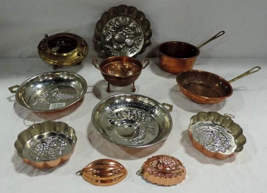 Box Lot Kitchen Copper Items