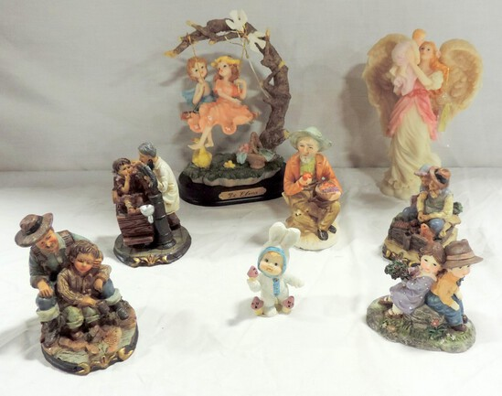 2 Resin Figures And 5 K Collectibles Figurines