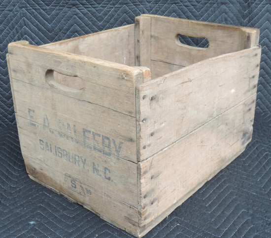 E.A. Sale by Salisbury, NC Wooden Crate