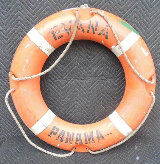 Vintage Evana Panama Life Preserver