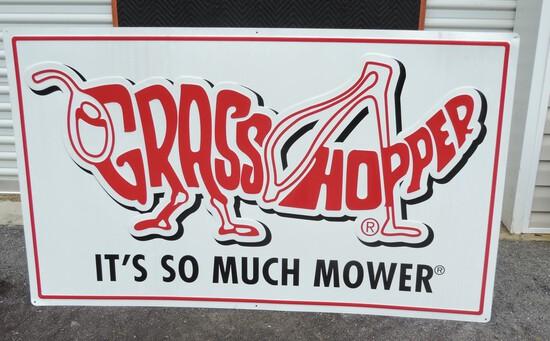 Grasshopper Lawn Mower Embossed Sign