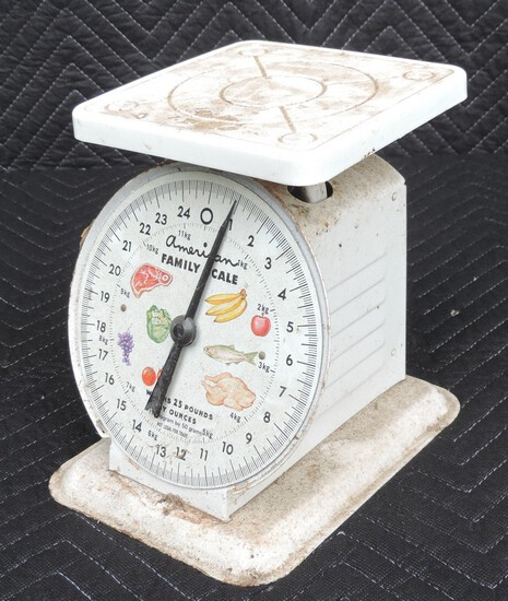 Vintage 25 Pound American Family Scales