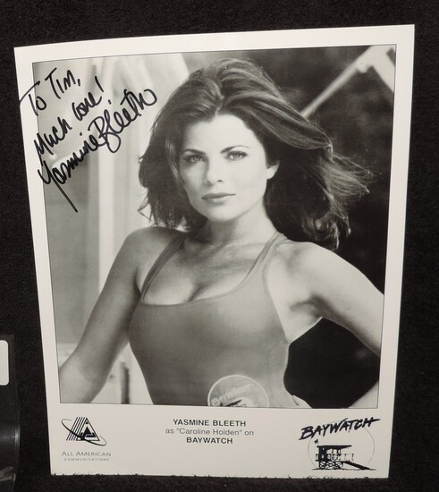 Autographed 8.5x11 of Yasmine Bleeth