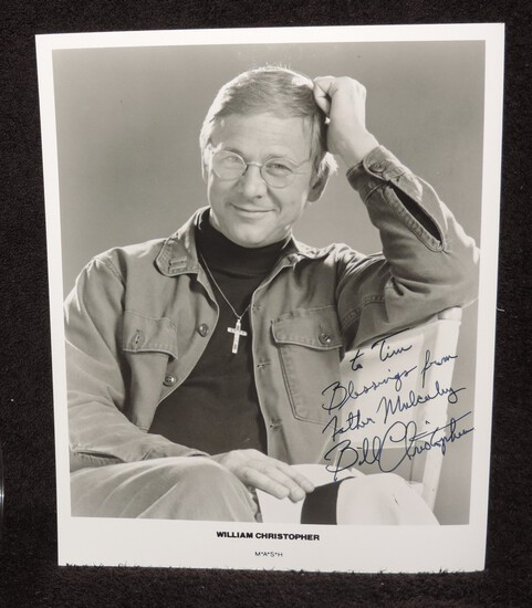 Autographed 8x10 Photo of William Christopher