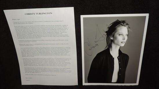 Autographed Christy Turlington Photo