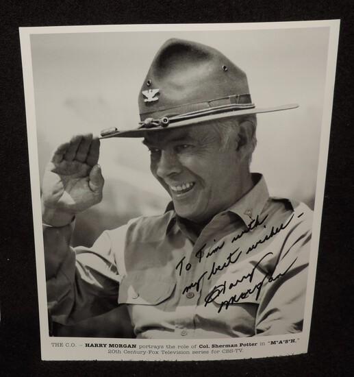 Autographed Harry Morgan 8x10 Photo