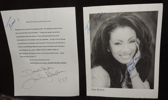 Autographed 8.5x11 Photo of Julie Brown