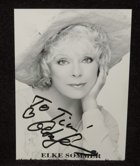 Autographed 4.5x6 Photo of Elke Sommer