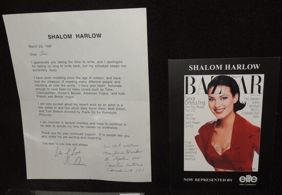 Autographed 6.25x8.25 Photo of Shalom Harlow