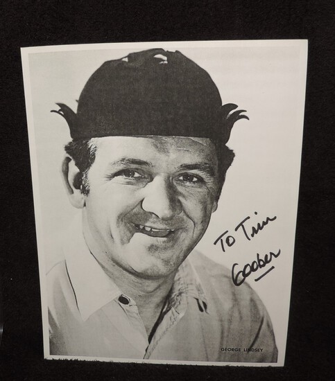 Autographed 9x11 George Lindsey Paper Photo