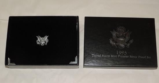 1993 US Mint Premier Silver Proof Set