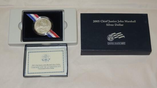 2005 Chief Justice Marshall Silver Dollar