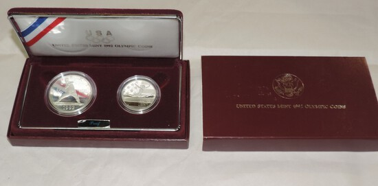 1992 US Olympic 2 Coin Set
